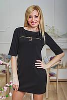 Платье-туника с молниями черная, фото 1