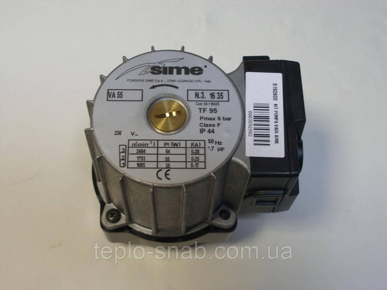 Циркуляционный насос газового котла Sime Format Zip 5. 5192600