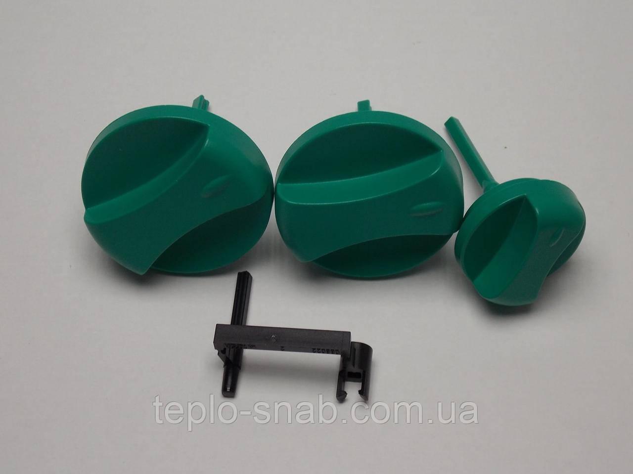 К-кт ручек (зелёных) управления/регулировки температуры газового котла Vaillant MAX Pro/Plus. 11