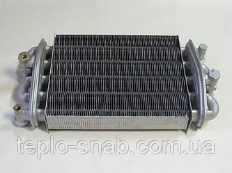 Теплообменник битермический газового котла TeploWest Optima АГД 24. 2.55.35.076.04