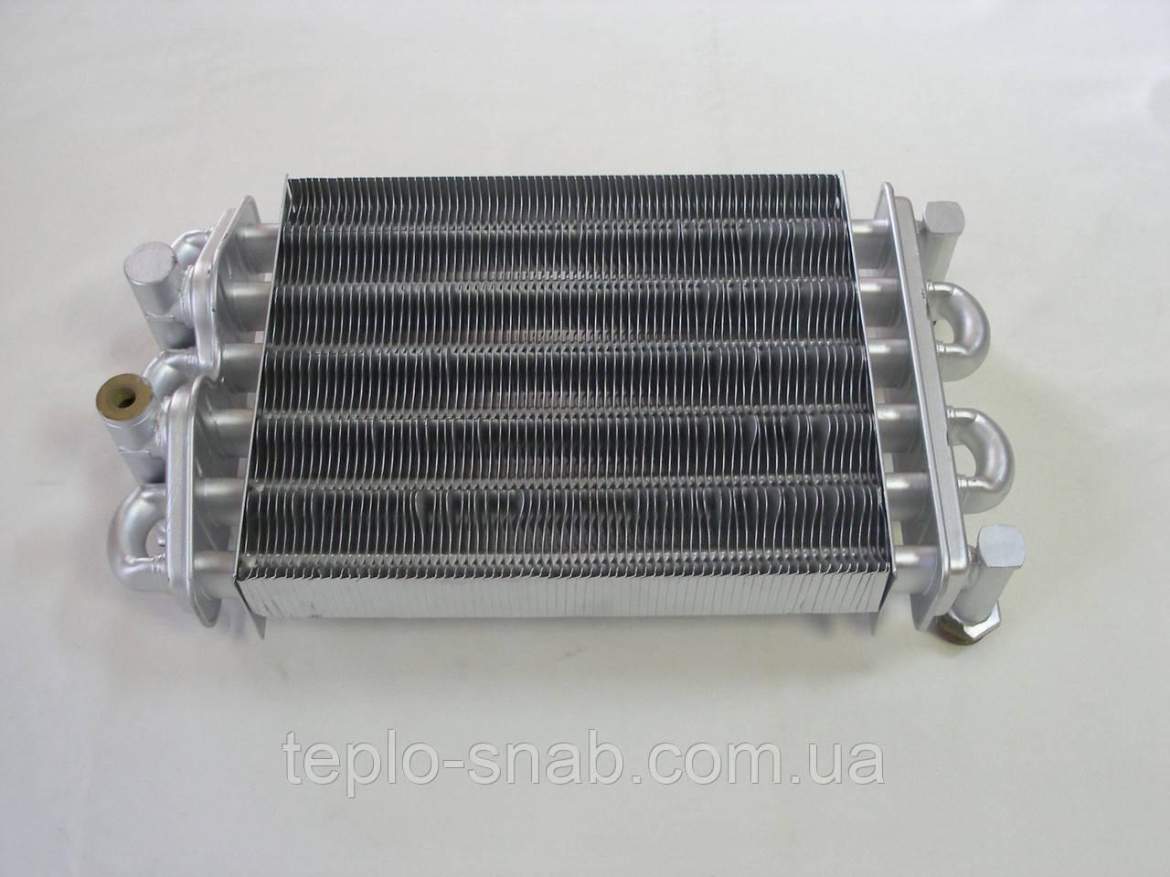 Теплообменник битермический для газового котла Nobel 18 SE PRO. 52120 (70 лам.)