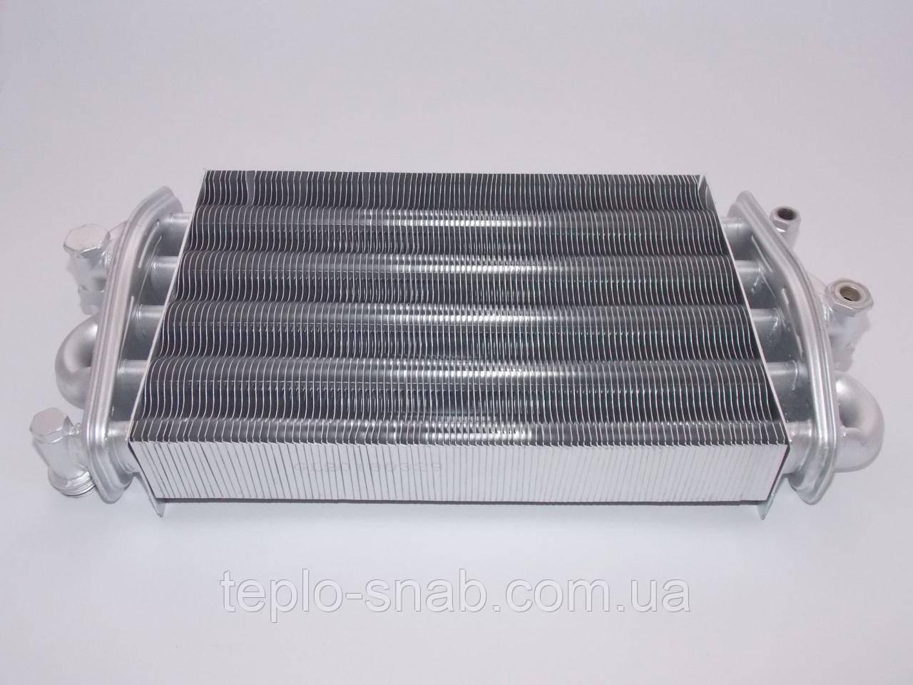 Теплооменник битермический (резьбовое подключение) газового котла Demrad Tayros ВК 124, НК 124. 3001020005