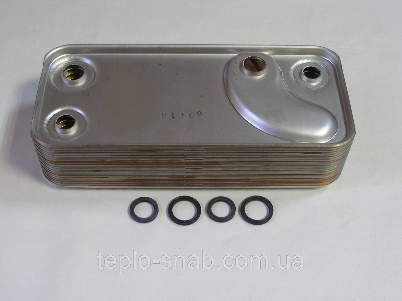 Вторинний теплообмінник газового колта Immergas Major 24, 19 пластин. 3.011261