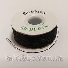 Madeira 120м черная нить для вышивки бисером нижняя нить для вышивания