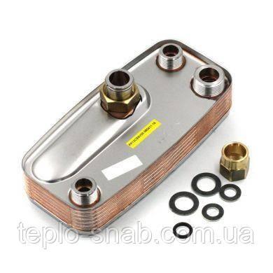 Теплообменник вторичный 15 пл. Immergas Nike/Eolo Mini (c ручками). 1.013430