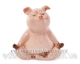 Статуэтки декоративные Свинка Йог стоя и Свинка Йог сидя, фото 3