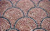 Каменная брусчатка красная 5*5*5