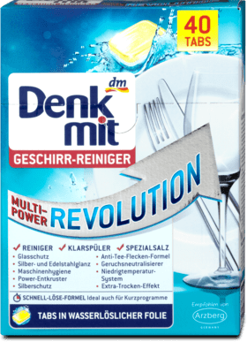 Denkmt таблетки для ПММ Geschirr-Reiniger-TabsMulti-Power Revolution 40шт