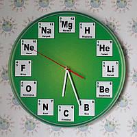Часы Химия Зелёные
