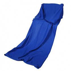 Плед флисовый с рукавами 130х150 см., синий (122387)