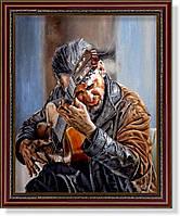 Репродукция  современной картины  «Уличный гитарист»