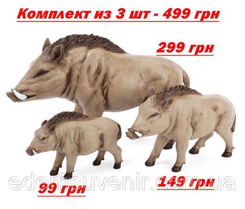 Статуэтки декоративные Семья Кабанчиков, фото 2