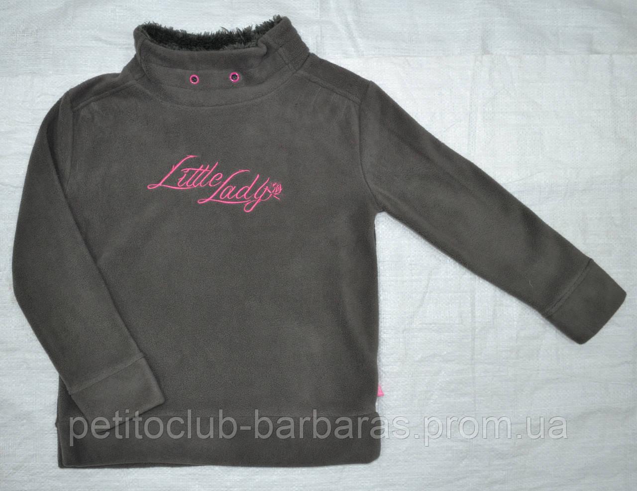 Свитер флисовый Little Lady для девочки серый (р.116-140 см) (QuadriFoglio, Польша)