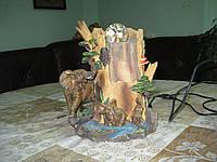 Фонтан декоративный комнатный Слоны хобот вверх