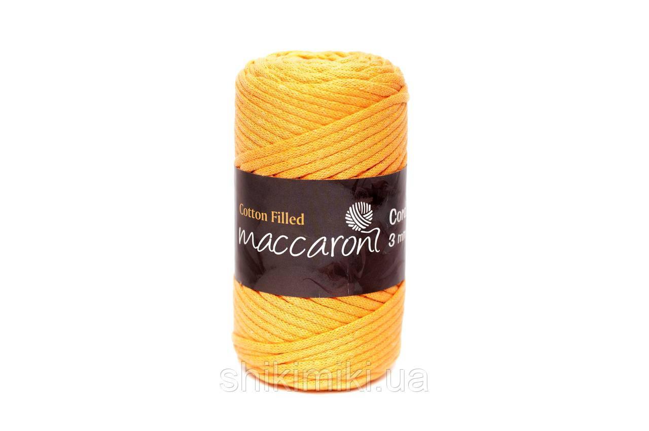 Трикотажный хлопковый шнур Cotton Filled 3 мм, цвет Горчичный