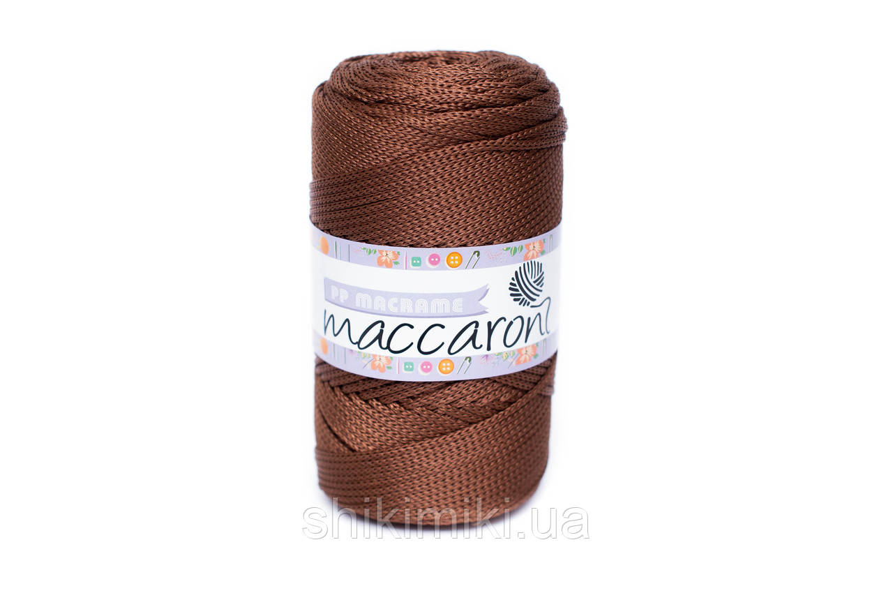 Трикотажный полипропиленовый шнур PP Macrame, цвет Бронзовый