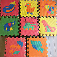 Детский игровой развивающий коврик-пазл Классический