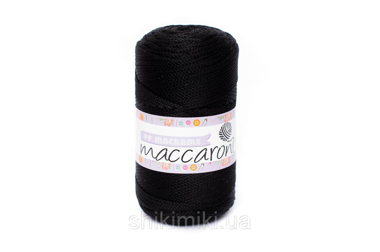 Трикотажный полипропиленовый шнур PP Macrame, цвет Черный