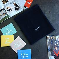 Зимовий ФЛІС  хомут Nike Синій