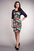 Женское платье в красивый цветочный принт