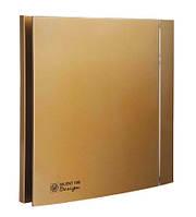 Вентилятор бытовой осевой S&P SILENT-100 CZ GOLD DESIGN -4C (230V 50)