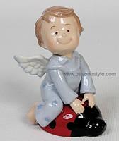 Фарфоровая статуэтка Ангелочек-мальчик (Pavone)