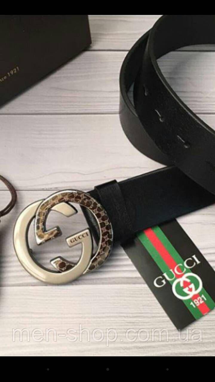 Кожаный ремень в стиле Gucci