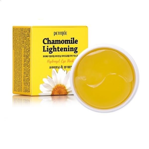Гідрогелеві освітлюючі патчі для очей з екстрактом ромашки PETITFEE Chamomile Lightening Hydrogel Eye Mask