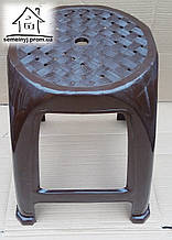 Стул, табурет пластиковый Полимер (коричневый) С009