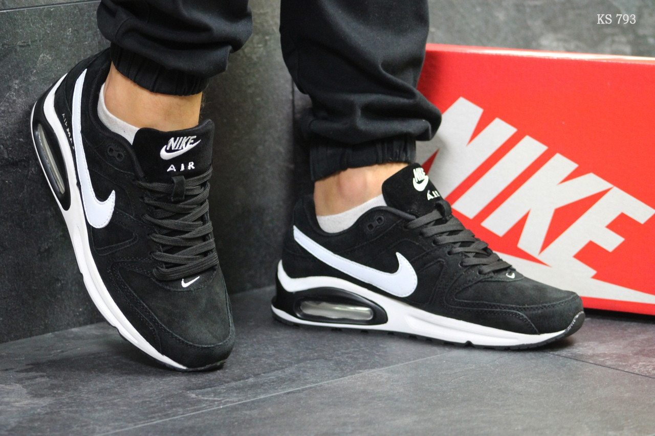 Мужские кроссовки Nike Air Max (черно-белые)