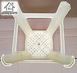 Стілець, табурет пластиковий Полімер (бежевий) С011, фото 4