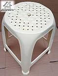 Стілець, табурет пластиковий Полімер (бежевий) С011, фото 3