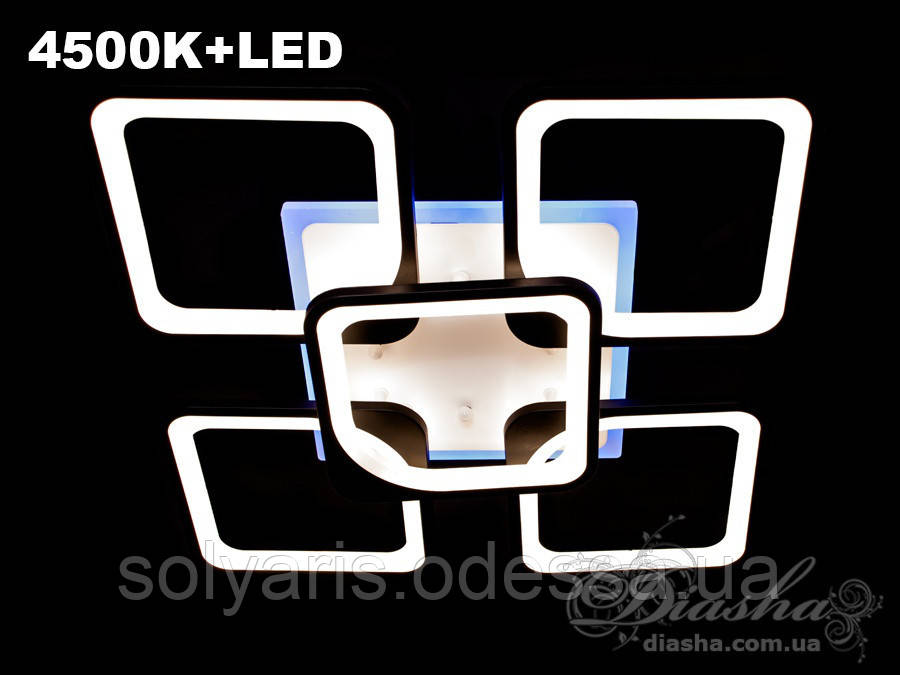 Люстра 8060/4+1BK LED dimmer-2.4G (черная,белая)