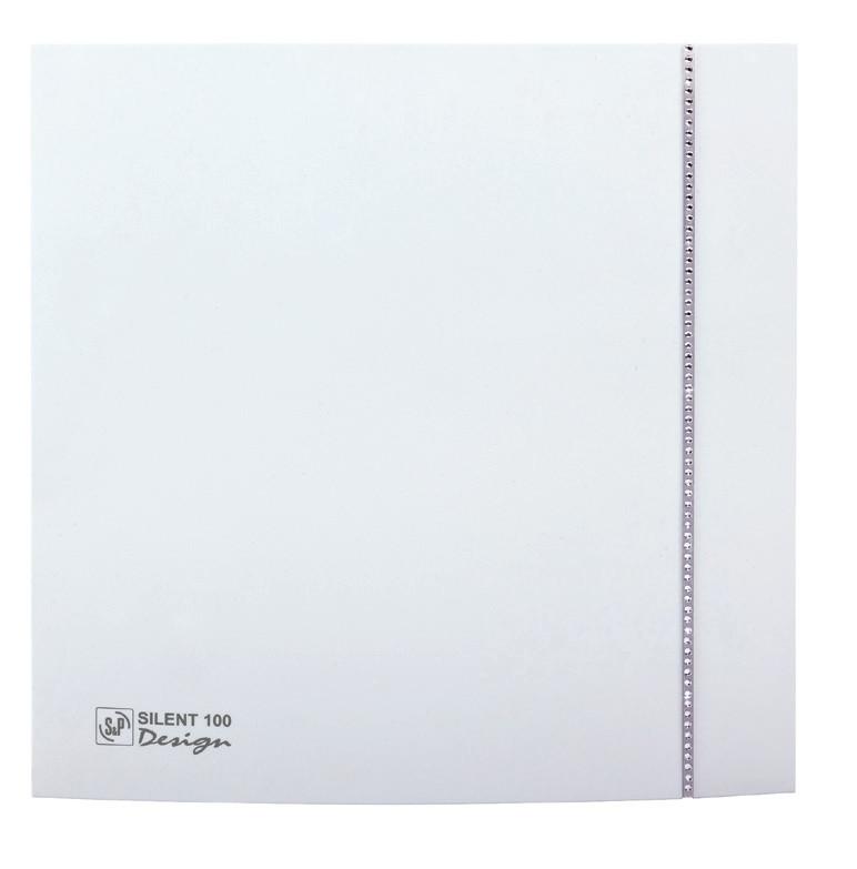 Вентилятор бытовой осевой S&P SILENT-100 CZ DESIGN SWAROVSKI (230V 50)
