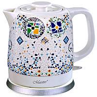 Керамический электрочайник Maestro MR-068 (1,5 л, 1200 Вт) | кухонный электрический чайник Маэстро, Маестро