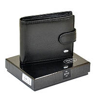 Мужской кошелек Dr. Bond RFID из натуральной кожи. Портмоне мужское. Черный цвет., фото 1