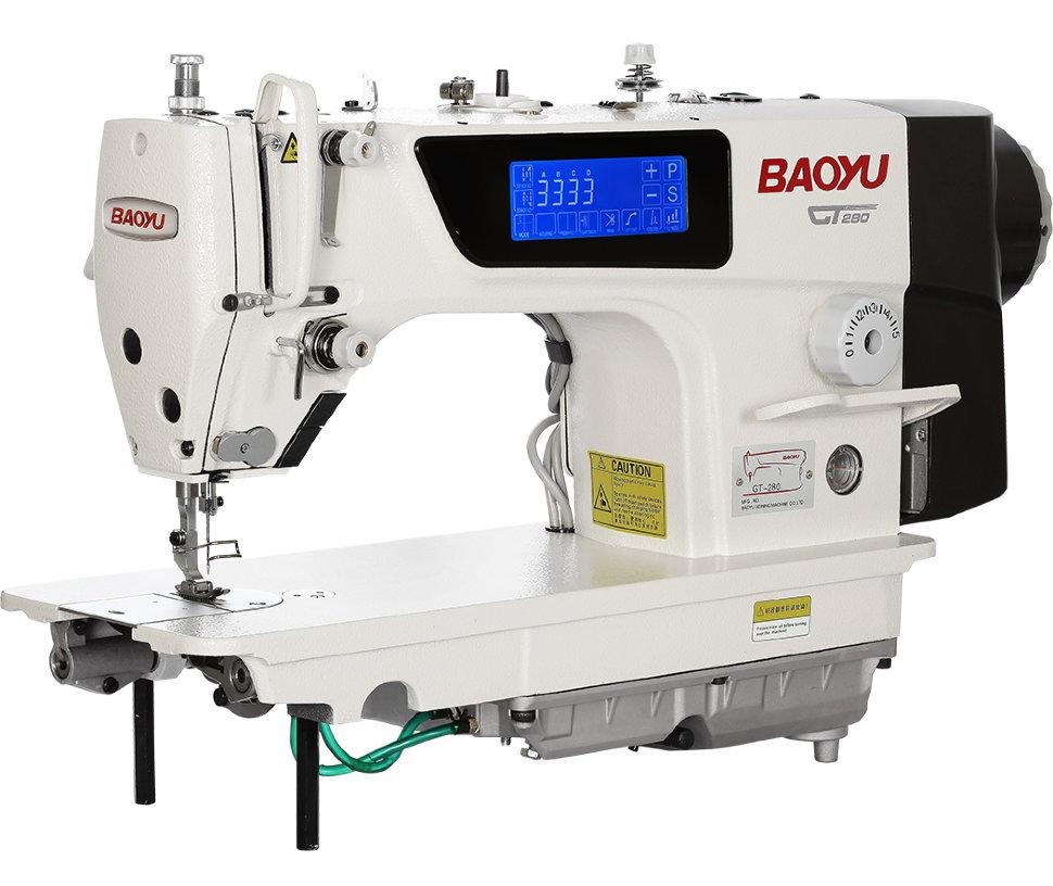 Baoyu GT-280M, компьютерная промышленная швейная машина с сенсорным дисплеем и полусухой головой