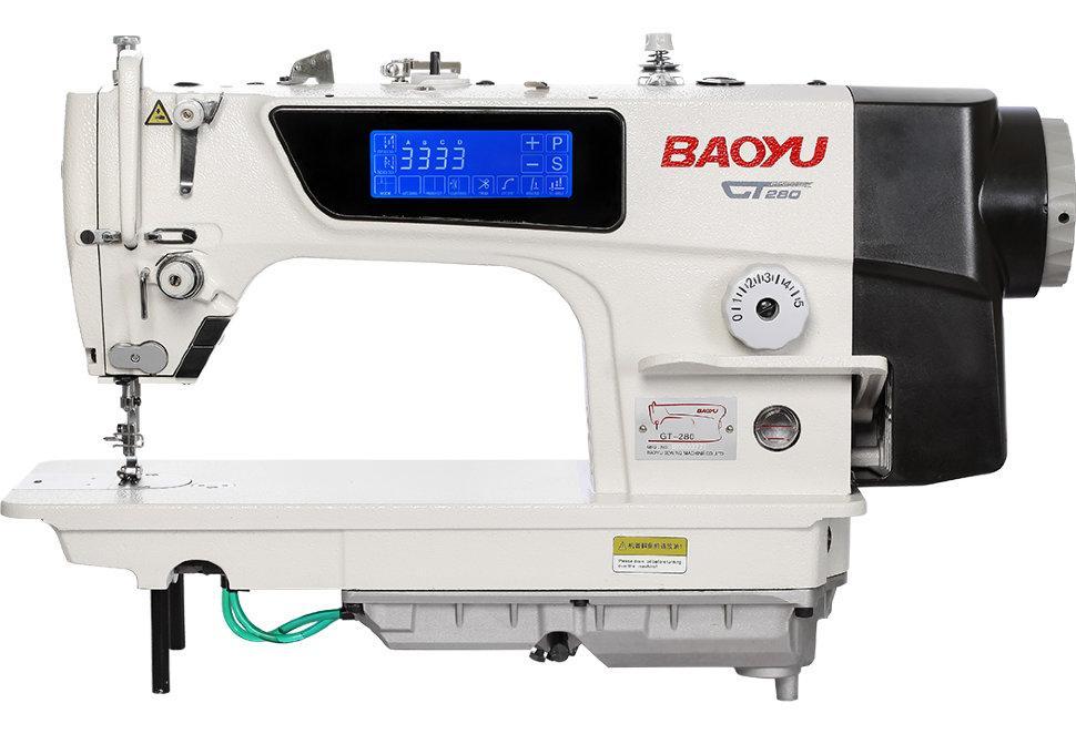 Baoyu GT-280H, компьютерная промышленная швейная машина с сенсорным дисплеем и полусухой головой