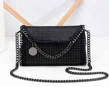 Модная маленькая женская сумка. Сумка клатч женская через плечо Estelle (черная)