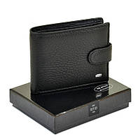 Мужской кошелек  - зажим из натуральной кожи Dr. Bond Classic RFID черный, фото 1
