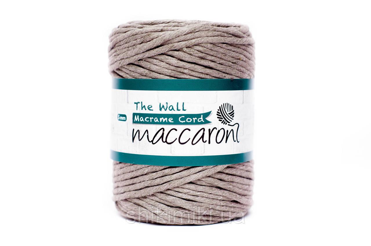 Эко шнур Macrame Cord 5 mm, цвет Капучино