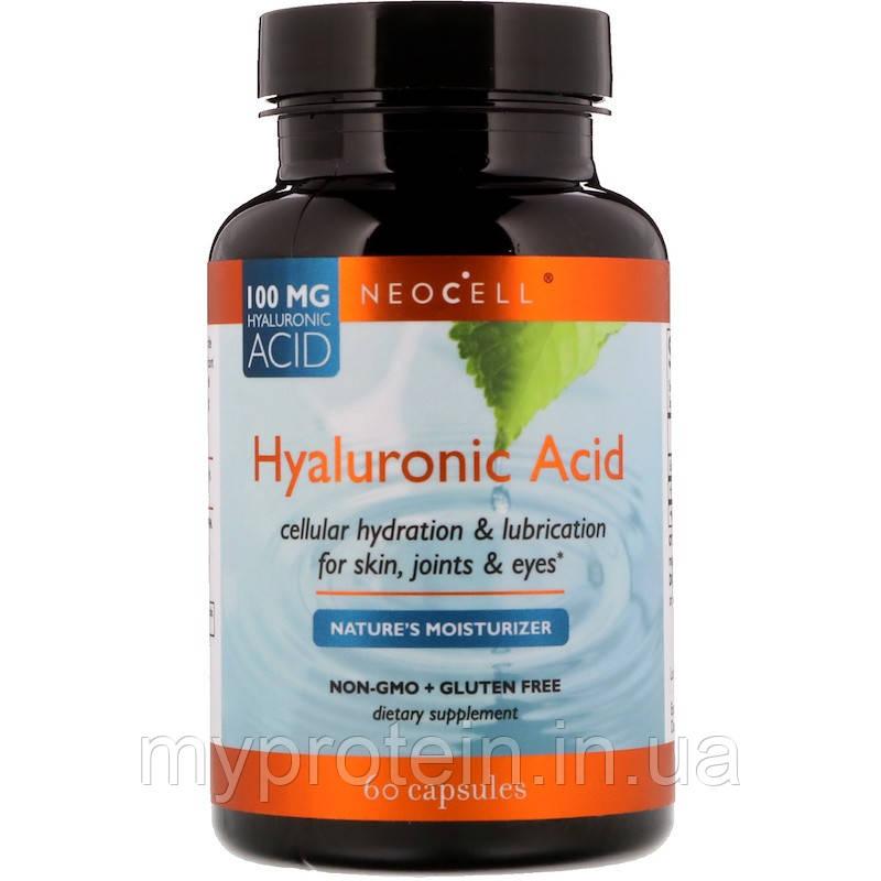 NeoCell Гуалуроновая кислота Hyaluronic Acid 60 caps