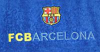 Полотенце махровое банное с символикой FC Barcelona
