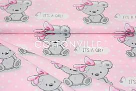 Сатин-твил It's a girl (остаток 1.50 мп)