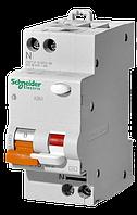 Дифференциальный автоматический выключатель Schneider-Electric АД63 2P(1+N) 16A C, 30mA, 11473 Диф автомат