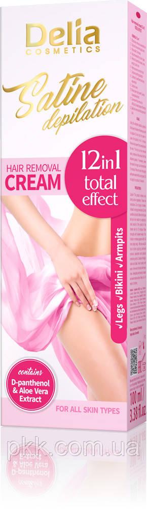 Крем для депиляции Delia Cosmetics Satine Depilation 12in1 Total Effekt 100 мл