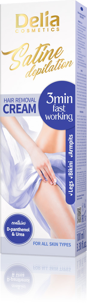 Крем для депиляции Delia Cosmetics Satine Depilation 3 min fast workin 100 мл