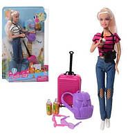 """Лялька (кукла) типу """"Барби"""" """"Defa Lucy"""" 8389 (48шт/2) 2 види, аксесуари туристки, в кор. 32*6*20,5 см"""