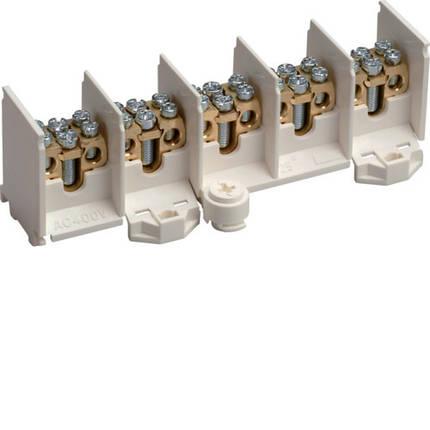 Клемник вводно/распределительный 5-полюсов 80 А на полюс, 25 мм2, hager, фото 2