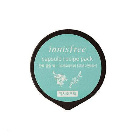 Капсульная маска для проблемной кожи Innisfree Capsule Recipe Pack Bija & Tea Tree